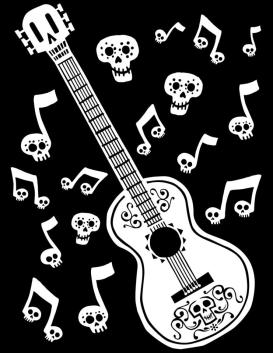 Disney Coco Coloring Pages to Print Miguels Guitar