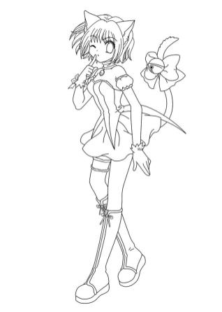 Free Anime Girl Coloring Pages bc94
