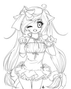 Free Anime Girl Coloring Pages mw84