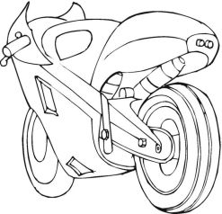 Free Motorcycle Coloring Pages for Kids