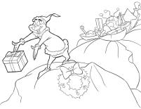 Grinch Coloring Pages Free Grinch Getting a Present