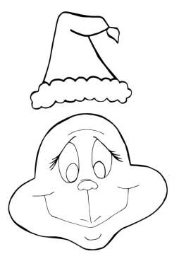 Grinch Coloring Pages Free Grinch Smiling Face and His Hat