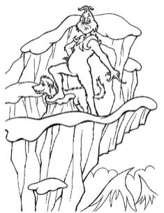Grinch Coloring Pages Free Grinch the Mean One