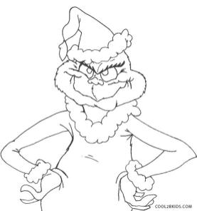 Grinch Coloring Pages Online Grinch not Happy with Anything