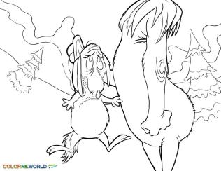 Grinch Coloring Pages Printable Max Is In Trouble with Grinch