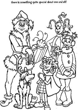 Grinch Coloring Pages for Adults Grinch Giving Presents to Children