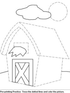 House Coloring Pages Printable Connect the Dots to Make a House