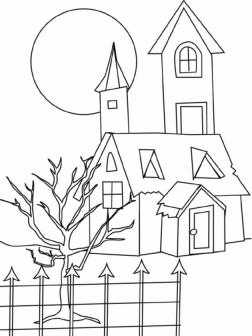 House Coloring Pages to Print House Coloring Printable for Preschool
