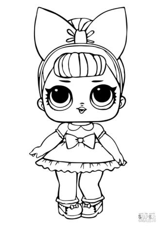 LOL Dolls Coloring Pages Fancy Glitter fg91