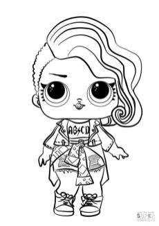 LOL Dolls Coloring Pages Lovely Rocker