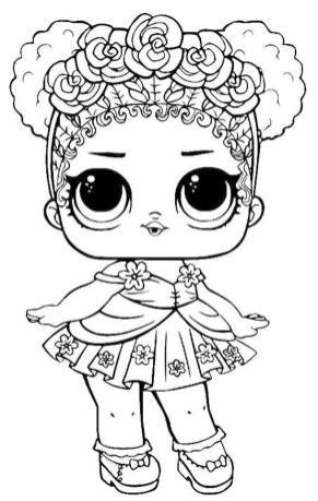 LOL Surprise Dolls Coloring Pages Free ksc5