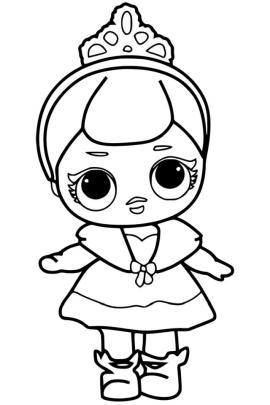 Lol Surprise Doll Coloring Pages Little Princess lp99