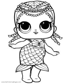 Lol Surprise Doll Coloring Pages Mermaid mmd6