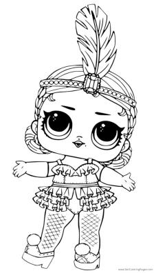 Lol Surprise Doll Coloring Pages Showbaby Glamour nk93