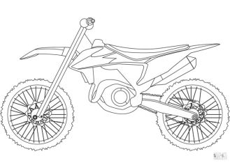 Motorcycle Coloring Pages Dirt Bike