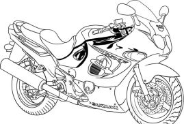 Motorcycle Coloring Pages Easy Suzuki Sport Bike Free to Print