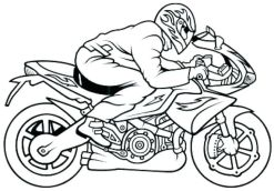 Motorcycle Coloring Pages Fast Sport Bike