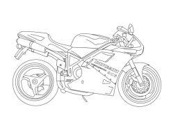 Motorcycle Coloring Pages Free Ducati Super Bike