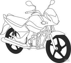 Motorcycle Coloring Pages Honda Cruiser Bike