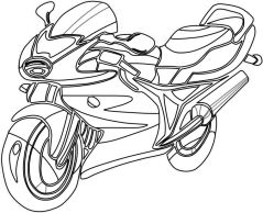Motorcycle Coloring Pages Sport Bike to Print