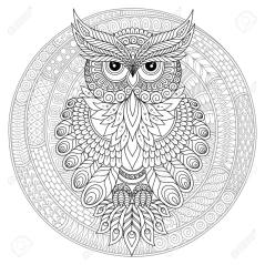 Owl Coloring Pages for Grown Ups Free to Print mo68