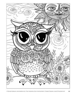 Owl Coloring Pages for Grown Ups Free to Print oe4t1