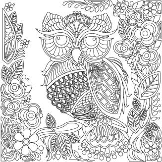 Owl Coloring Pages for Grown Ups Free to Print ws01