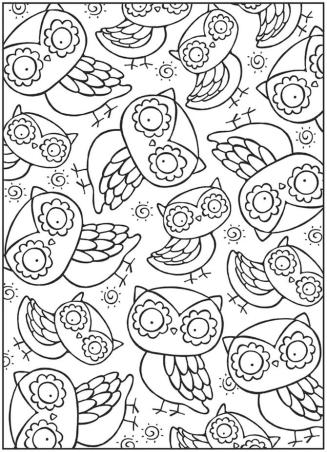 Printable Owl Coloring Pages for Grown Ups od95
