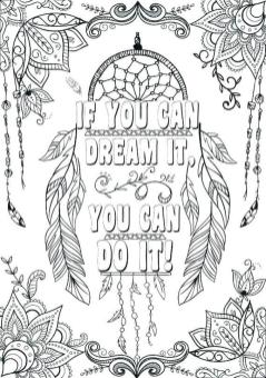 Quote Coloring Pages Free You Can Do It