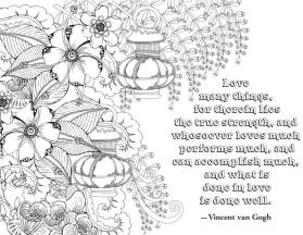 Quote Coloring Pages What Is Done in Love Is Done Well