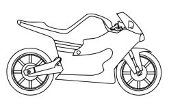 Simple Motorcycle Coloring Pages for Kindergarten