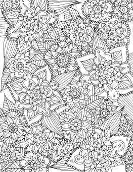 Spring Coloring Pages for Adults Complex Flower Pattern Printable