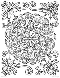 Spring Coloring Pages for Adults Flower Mandala