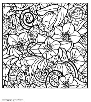 Abstract Art Coloring Pages Lovely Blooming Blossoms