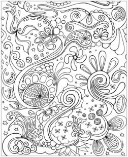 Abstract Coloring Pages Easy c012l