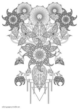 Abstract Coloring Pages Free Printable Intricate Abstract Chandelier