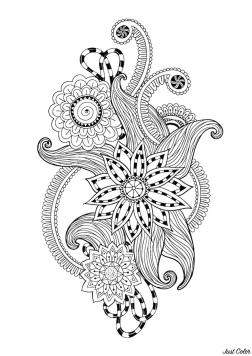 Adult Coloring Pages Abstract Zen Antistress Abstract Pattern