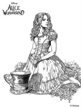 Coloring Pages for Teenage Girl to Print Alice in Wonderland