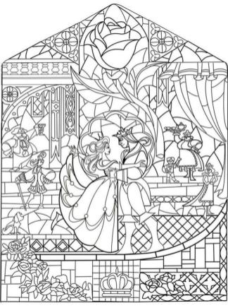 Coloring Pages for Teenage Girl to Print Beauty and the Beast