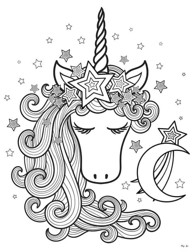 Coloring Pages for Teenagers Unicorn Princess