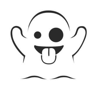 Emoji Coloring Pages Cute Ghost Emoji