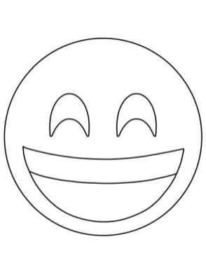 Emoji Coloring Pages Smiley Big Smile for You