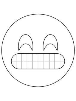 Emoji Coloring Pages Smiley Grinning Emoji