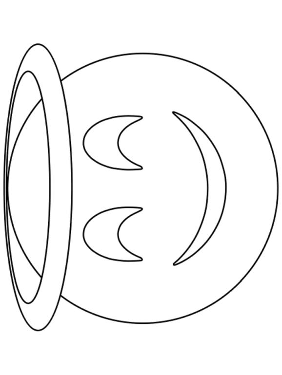 Emoji Coloring Pages Smiley I am Feeling Kind and Angelic Today