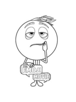 Emoji Movie Coloring Pages Printable Gene Does Not Feel It