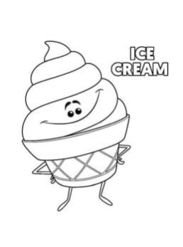 Emoji Movie Coloring Pages Printable Ice Cream