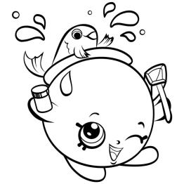 Shopkins Coloring Book Pages Goldie Fish Bowl