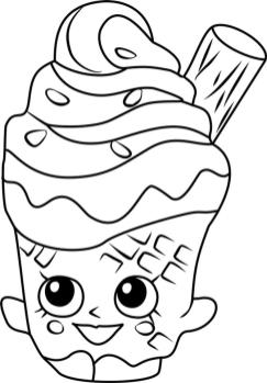 Shopkins Coloring Book Pages Happy Coney