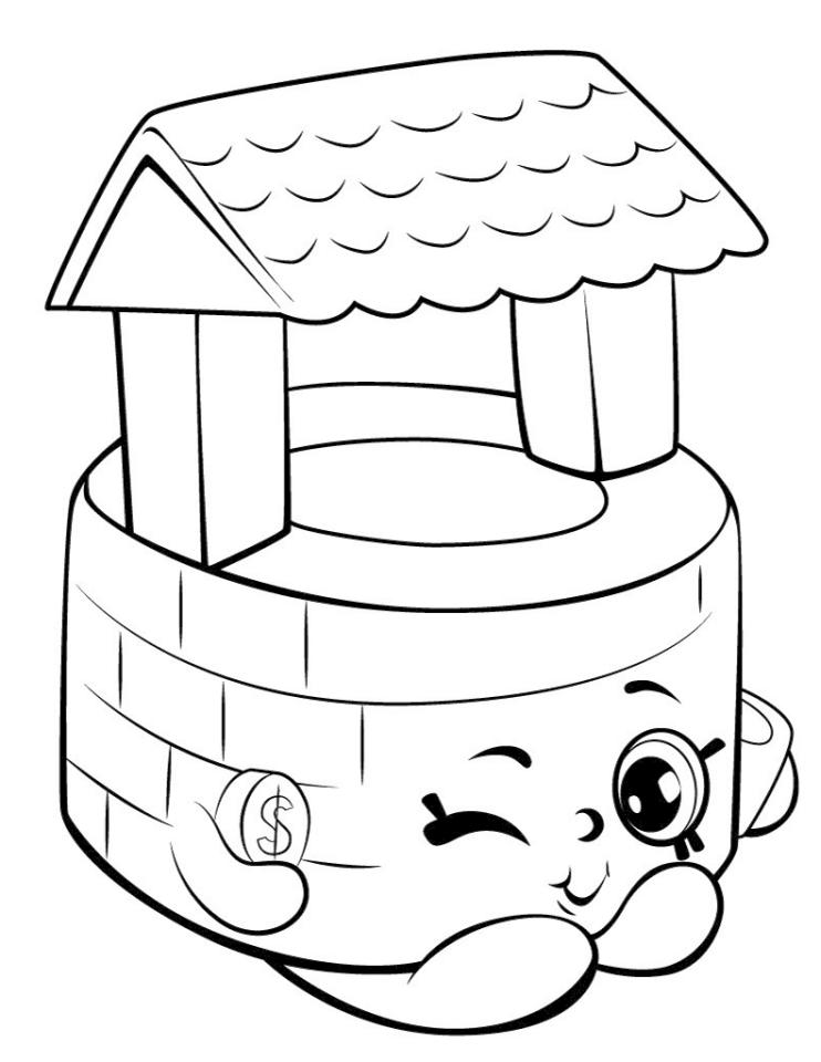 Shopkins Coloring Book Pages Penny Wishing Well