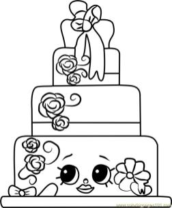 Shopkins Coloring Pages Food Wendy Wedding Cake